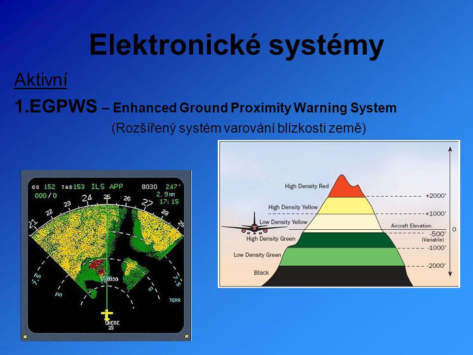 Elektronické systémy 2.TCAS - Traffic Collision Avoidance System (Protisrážkový výstražný systém)