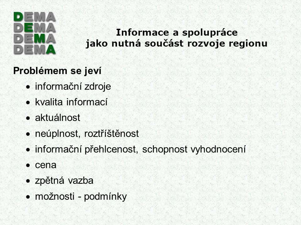 Informace a spolupráce jako nutná součást rozvoje regionu Jaká je počítačová gramotnost v ČR.