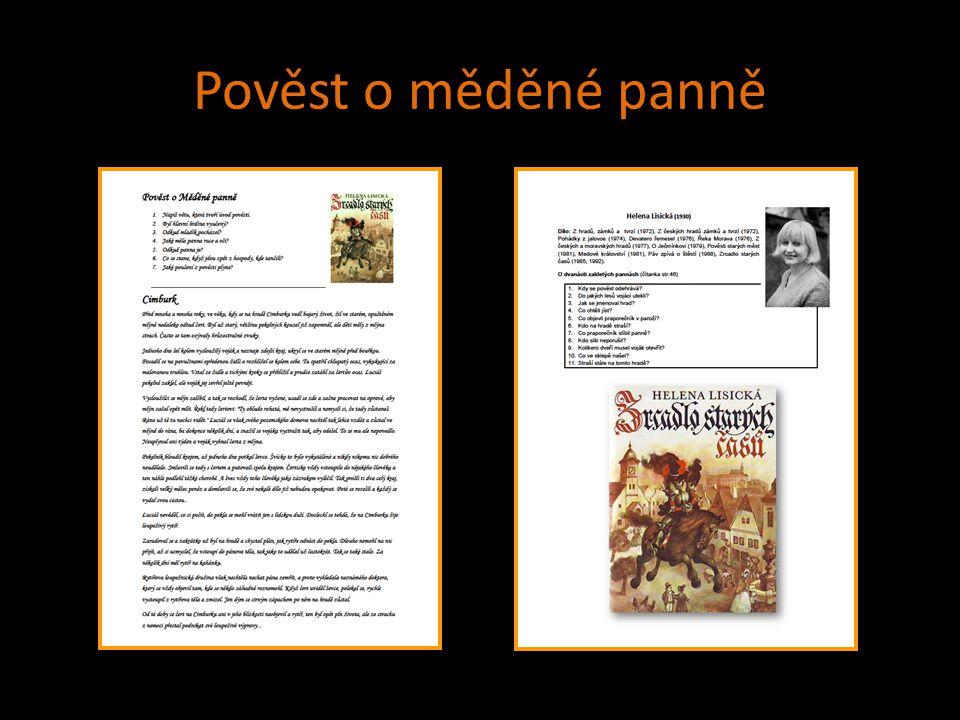 Použité zdroje LISICKÁ, Helena.Zrcadlo starých časů.