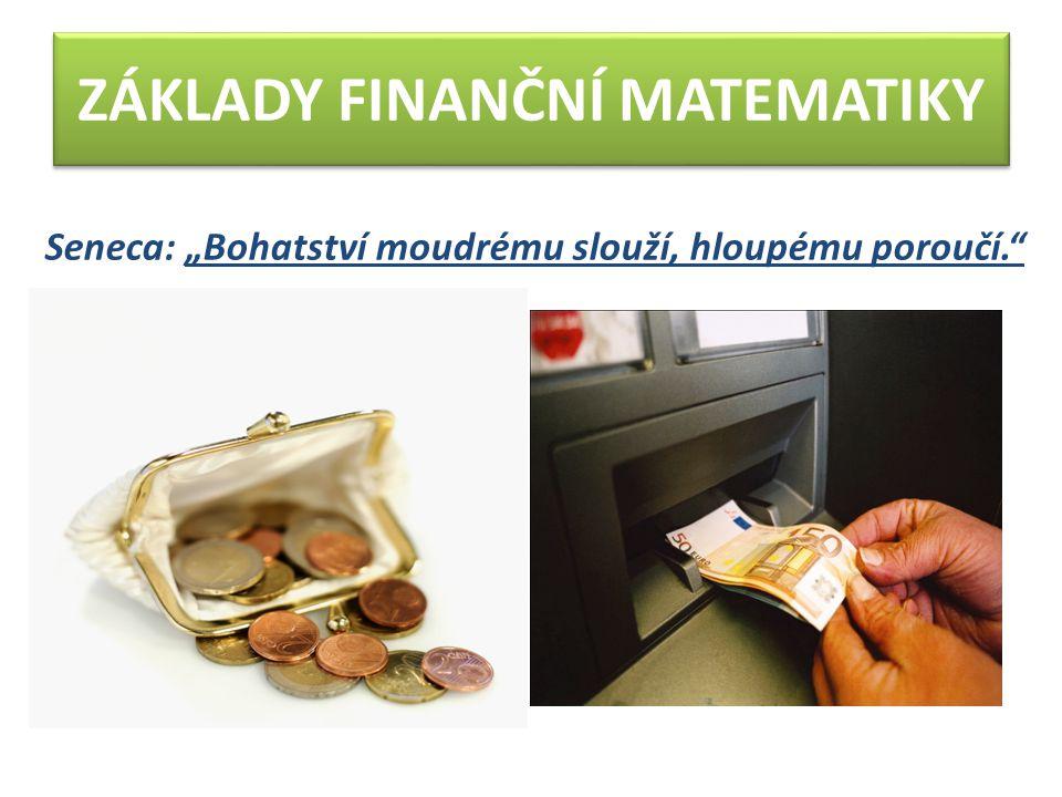 Úlohy k procvičení: 1.Pan Bláha si uložil v bance na vkladní knížku 55 000 Kč na dobu 1 roku při úrokové míře 4,3 %.