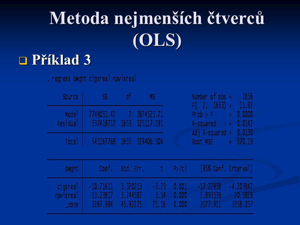 Metoda nejmenších čtverců (OLS)  Příklad 3