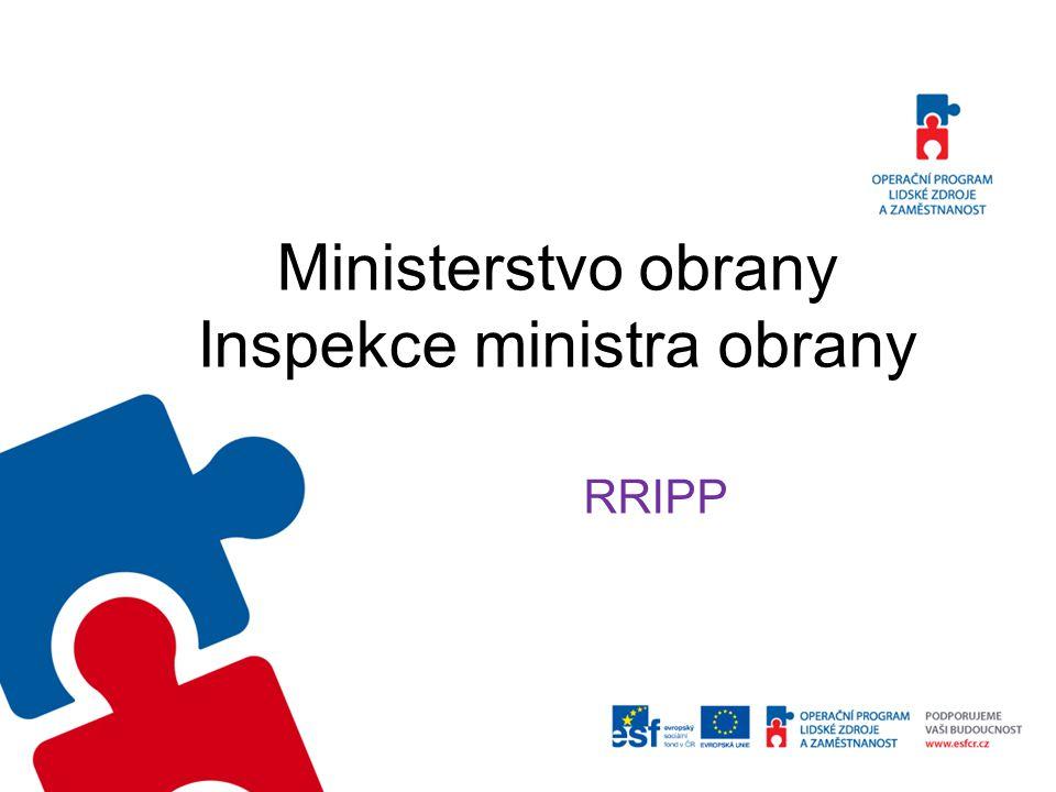 Ministerstvo obrany Inspekce ministra obrany RRIPP