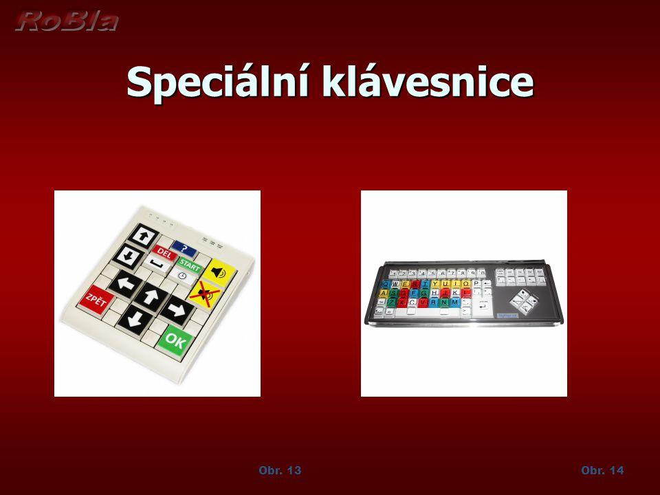 Speciální klávesnice Obr. 14Obr. 13