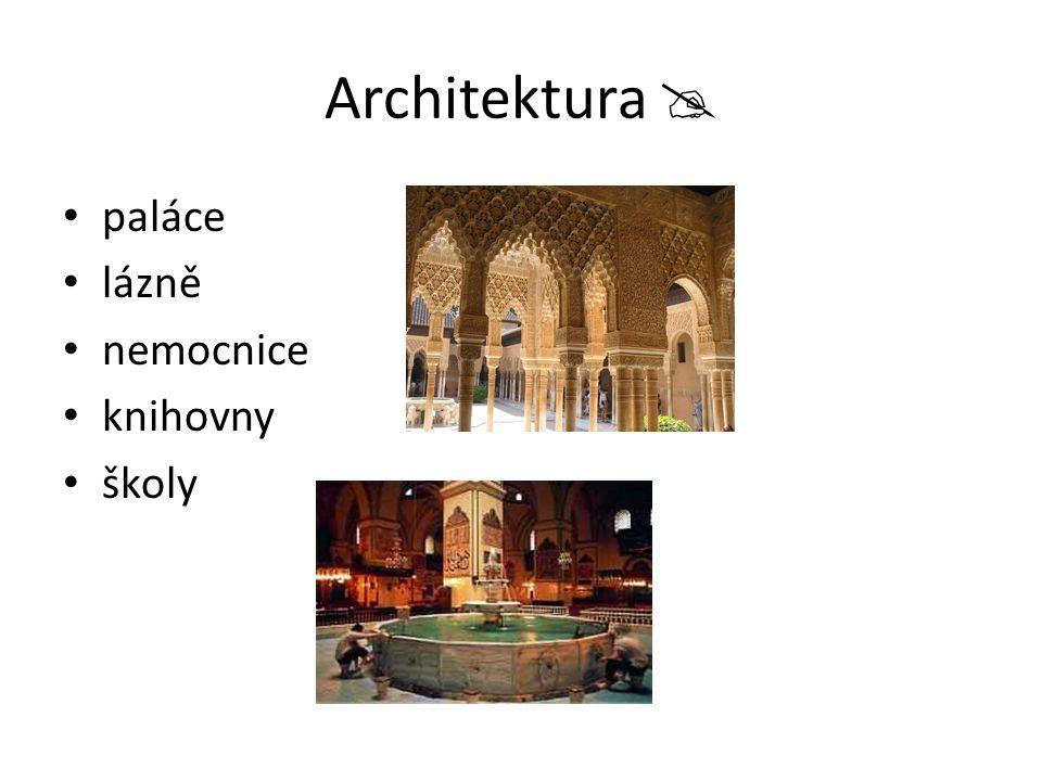 Architektura  paláce lázně nemocnice knihovny školy