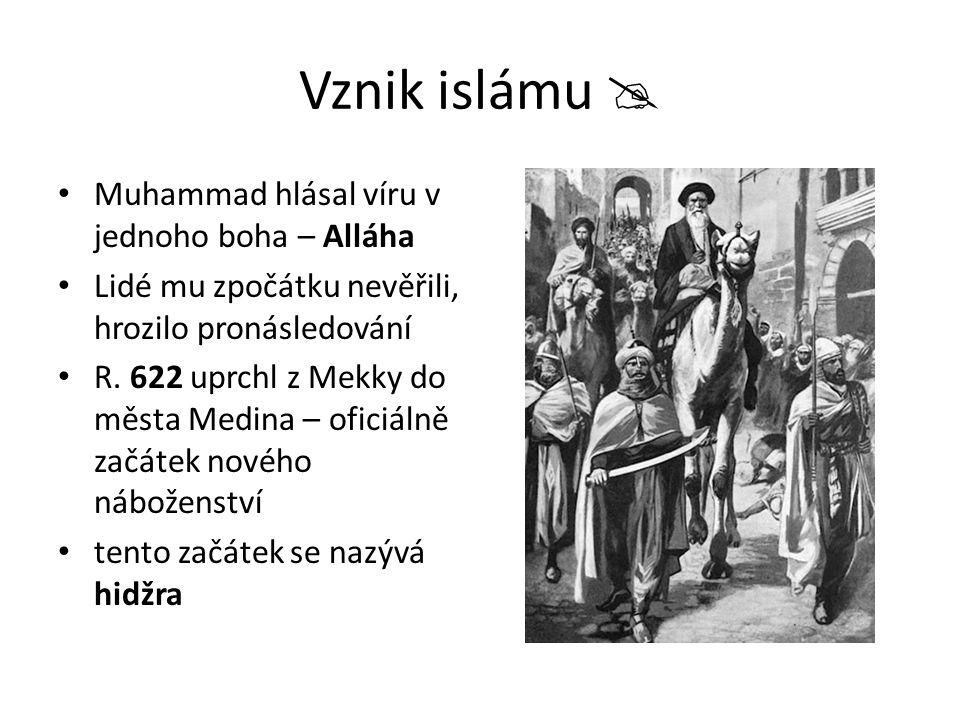 Základy islámu korán – posvátná kniha muslimů  vznikal mnoho let, předával se z generace na generaci.