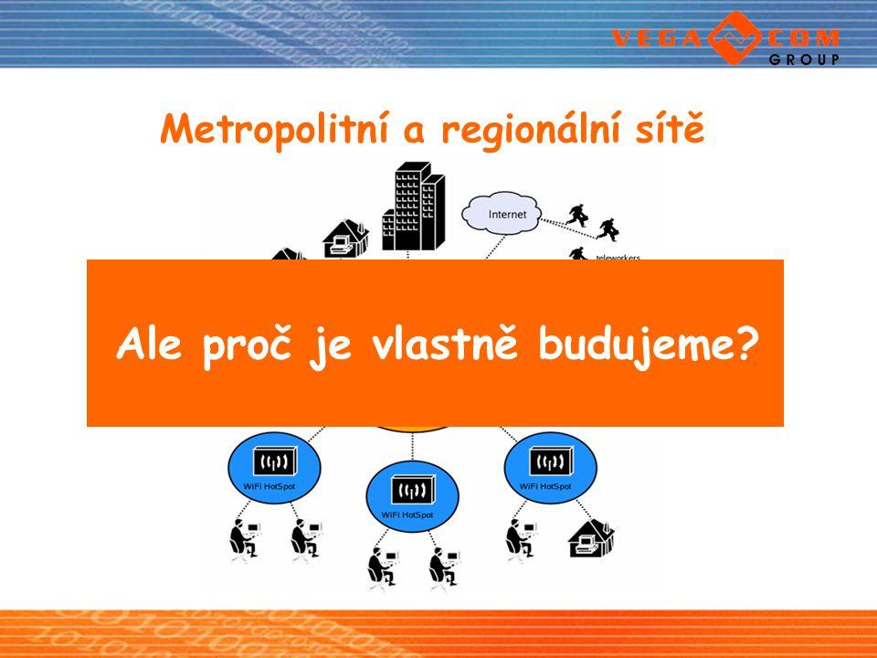 Metropolitní a regionální sítě Ale proč je vlastně budujeme?