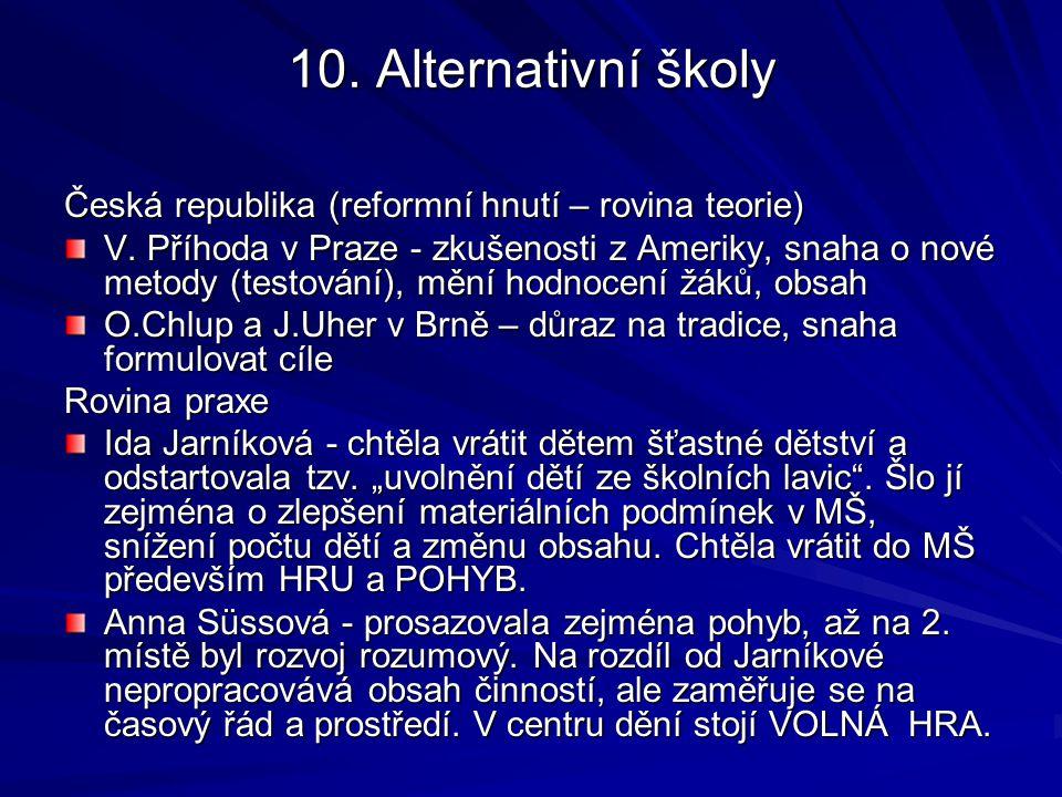 INOVATIVNÍ ŠKOLY Program podpory zdraví v MŠ (Havlínová, 2000) Program Začít spolu (Gardošová, Dujková, 2003)