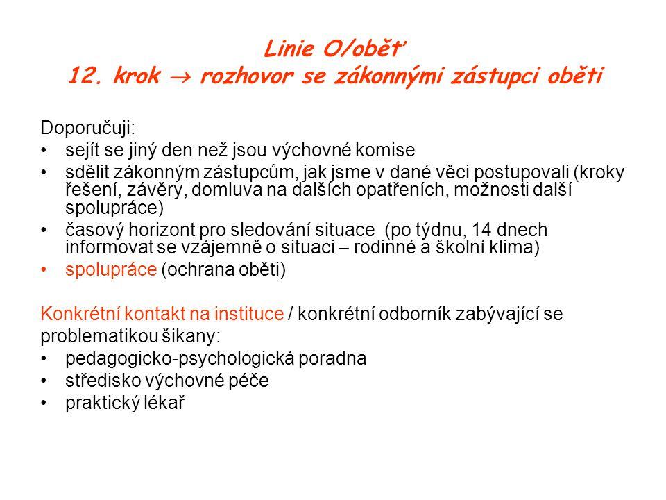 Linie O/oběť 12.