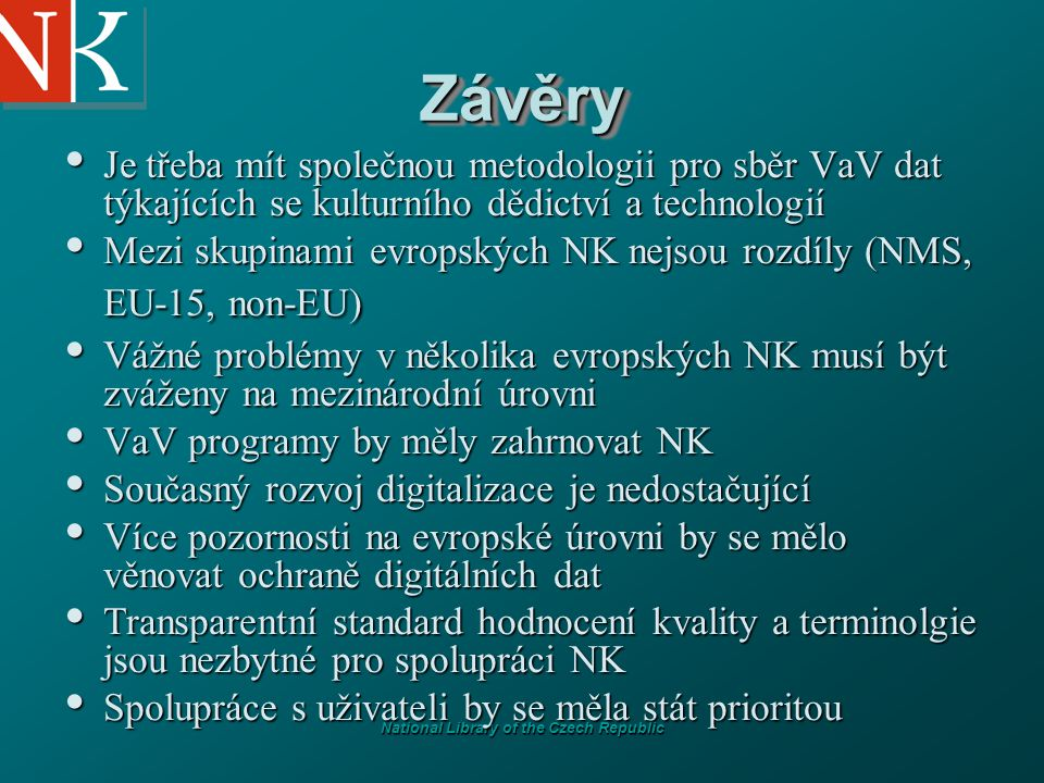 National Library of the Czech Republic Digital Library Initiative