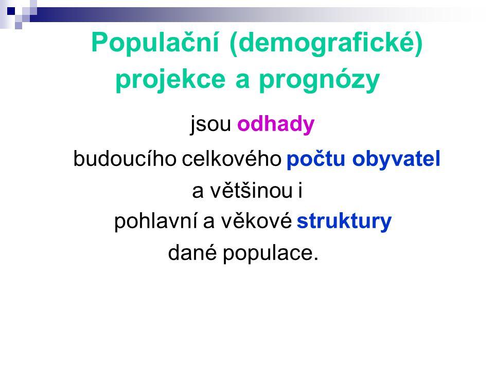 Populační (demografické) projekce a prognózy jsou odhady budoucího celkového počtu obyvatel a většinou i pohlavní a věkové struktury dané populace.
