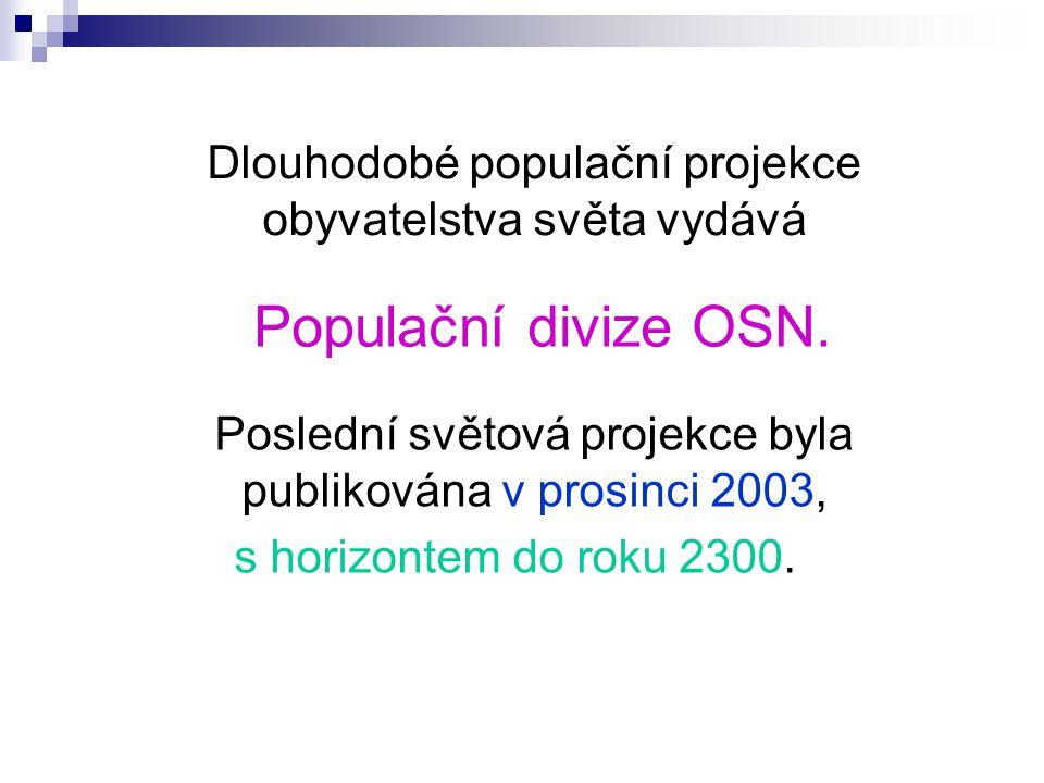 Dlouhodobé populační projekce obyvatelstva světa vydává Populační divize OSN.
