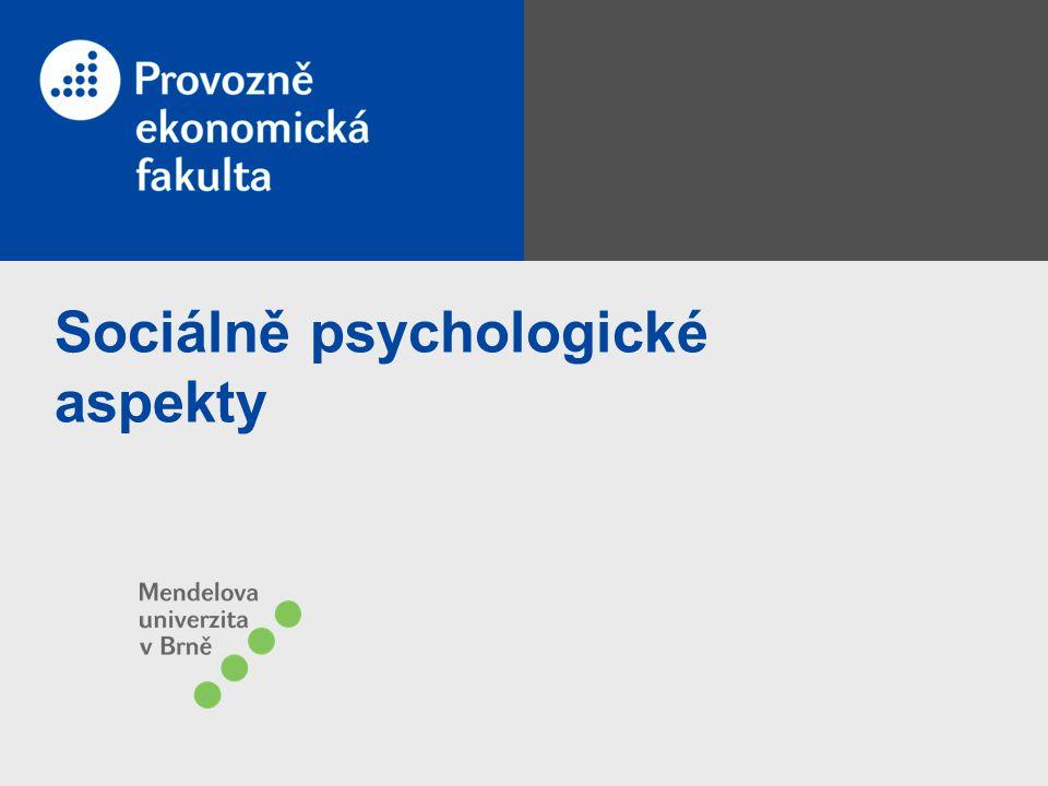 Sociálně psychologické aspekty