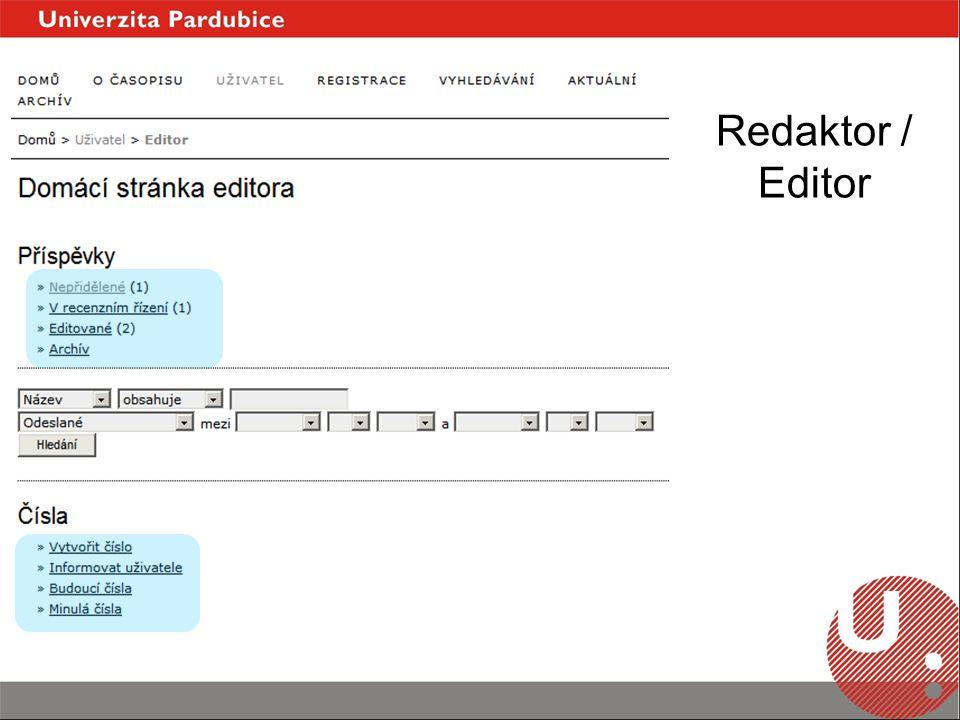 Redaktor / Editor