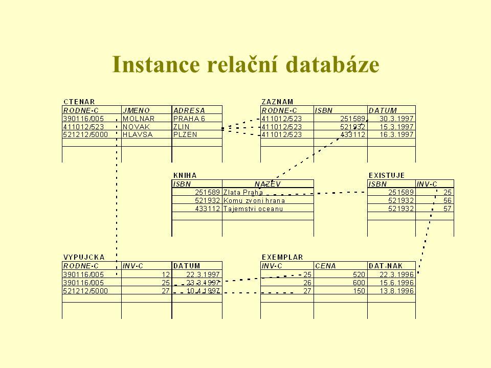 Instance relační databáze