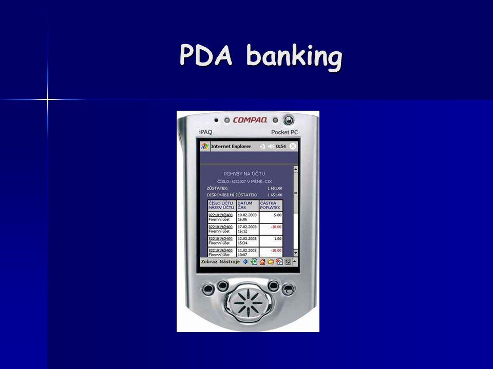 PDA banking
