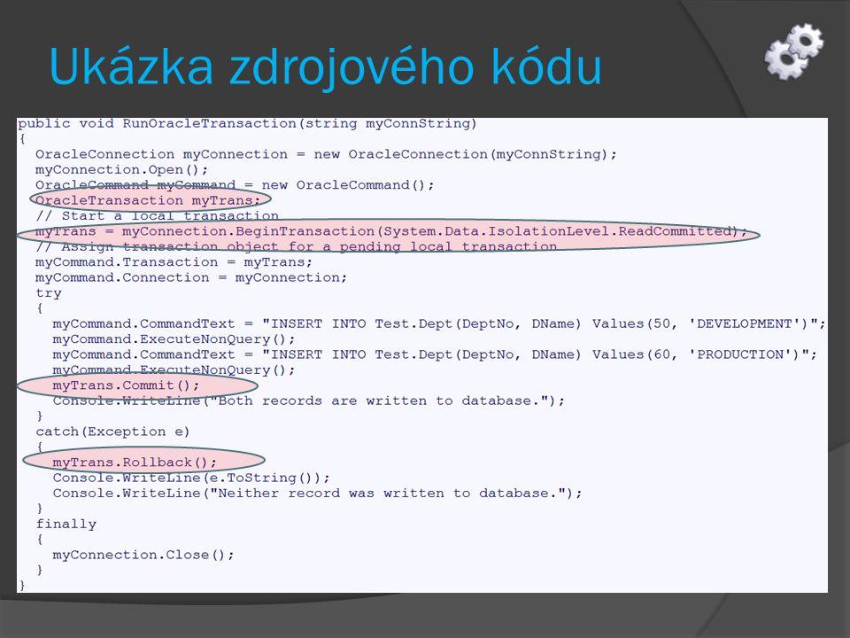 Step by step  Vytvořte novou konzolovou aplikaci s názvem TransactionExample_01  Využijeme znalostí předchozích kapitol k vytvoření připojení k DB, (01_ConnectionDemo)