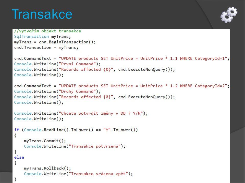 Sekce catch metody Main pouze odchytí případnou chybu v kódu