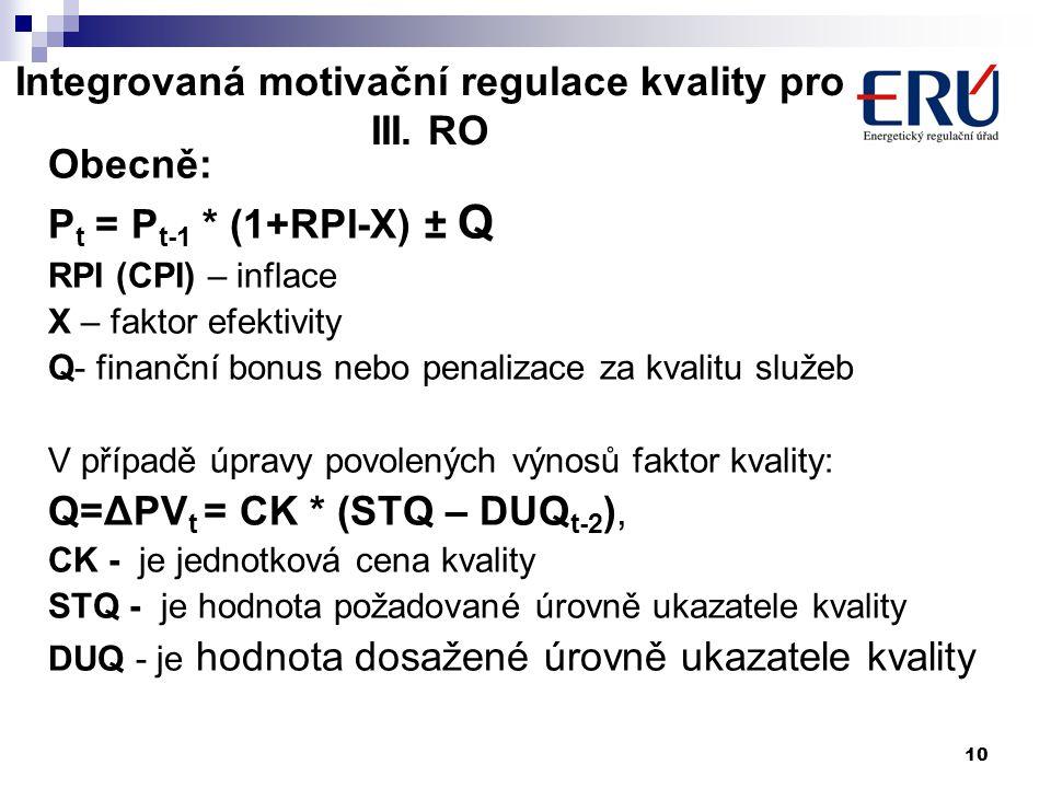 10 Integrovaná motivační regulace kvality pro III.