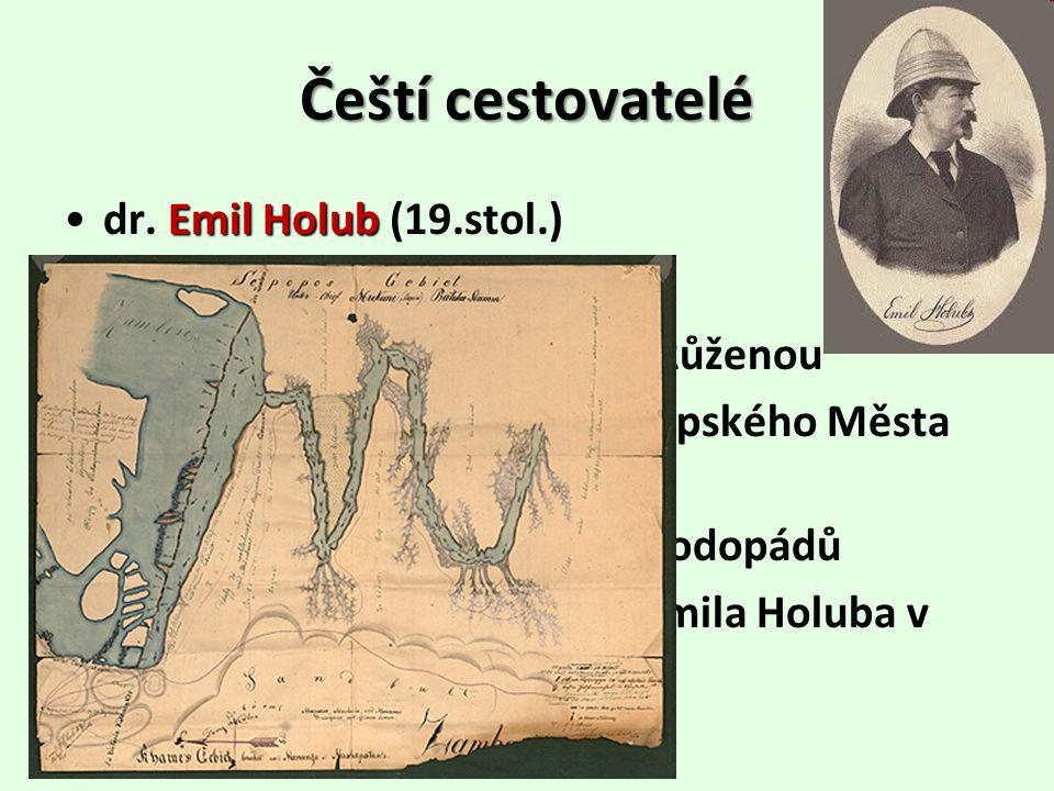 Češtícestovatelé Čeští cestovatelé Emil Holubdr.
