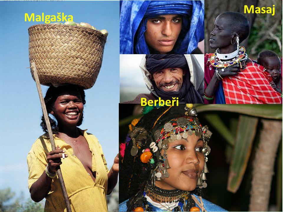 Malgaška Berbeři Masaj