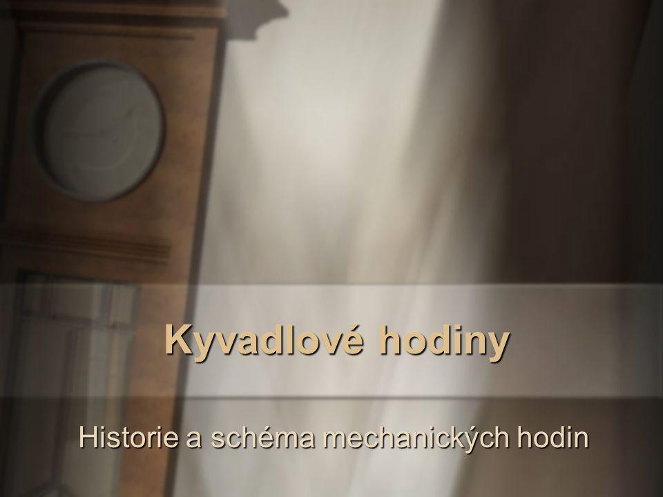 Kyvadlo -Christian Huygens - holandský fyzik -frekvence a perioda harmonického pohybu kyvadla -délka kyvadla a tíhové zrychlení -Sférické kyvadlo -Reversní kyvadlo