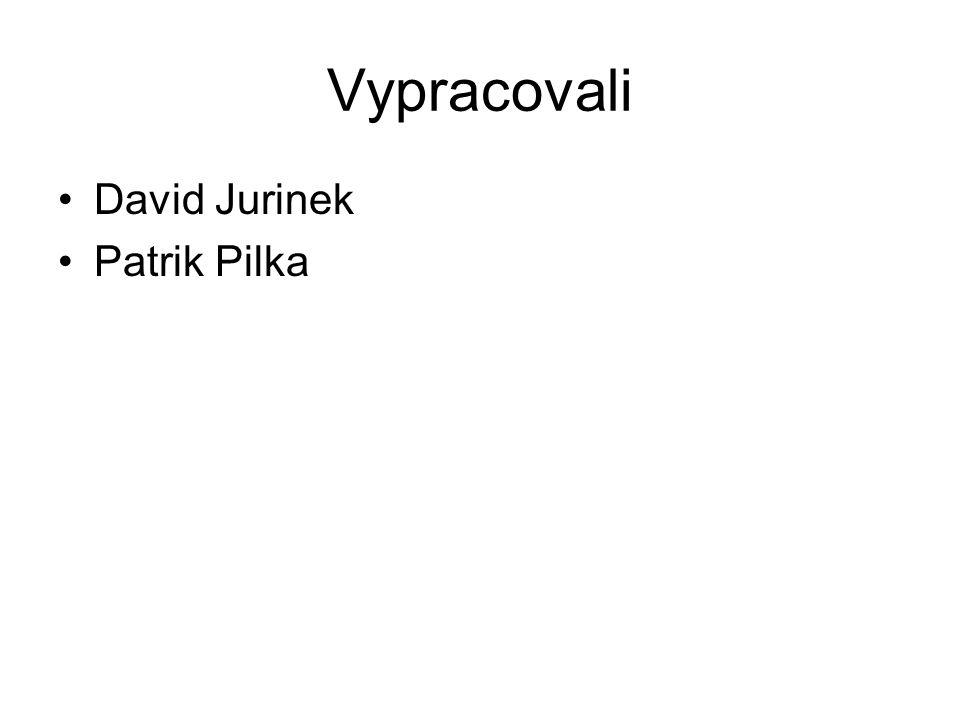 Vypracovali David Jurinek Patrik Pilka