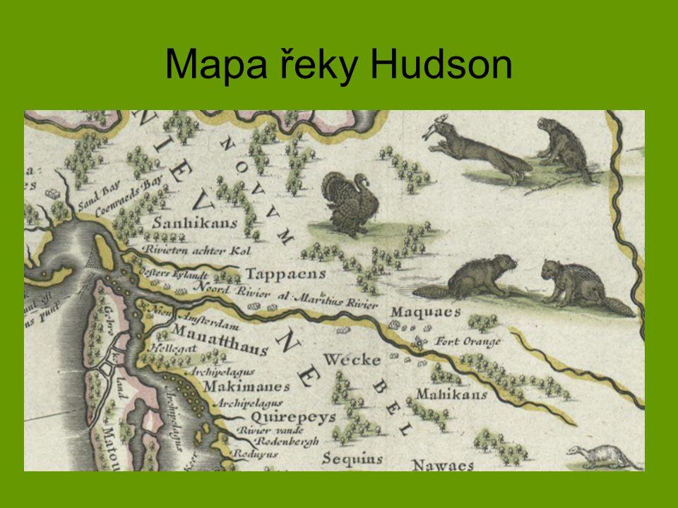 Mapa řeky Hudson