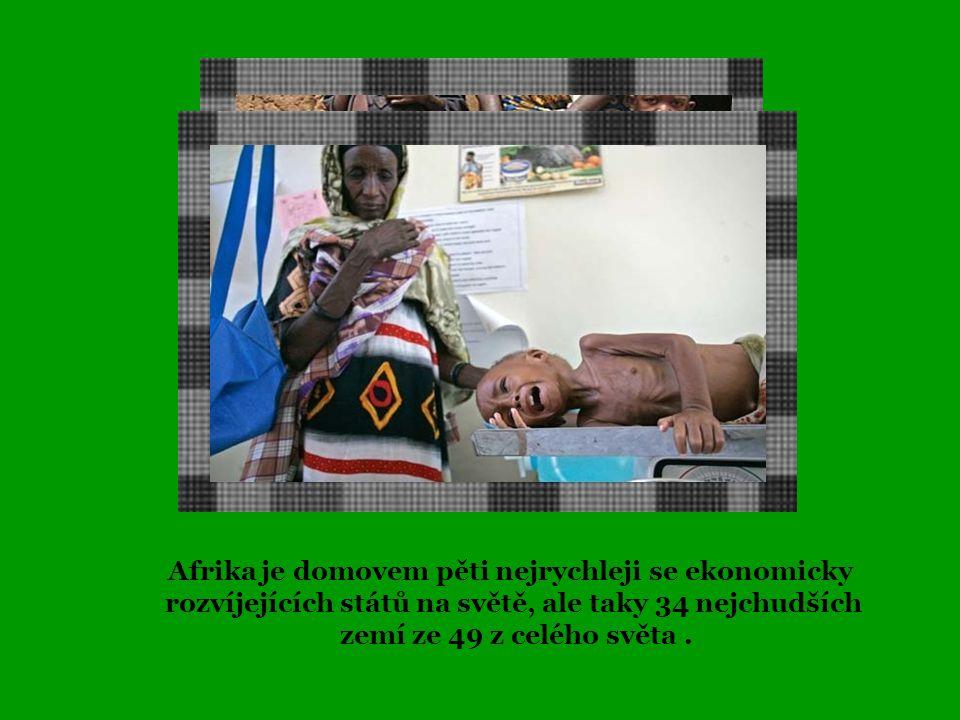 Více než 300 milionů lidí v Subsaharské Africe – skoro polovina africké populace – žije za méně než 1 dolar na jeden den.