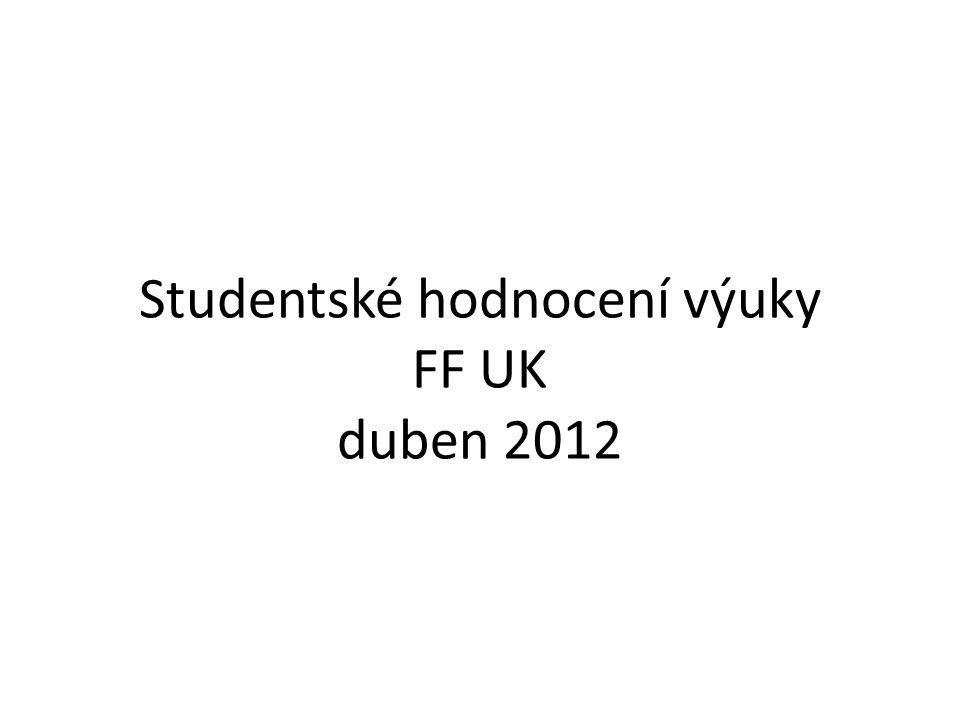 Studentské hodnocení výuky FF UK duben 2012