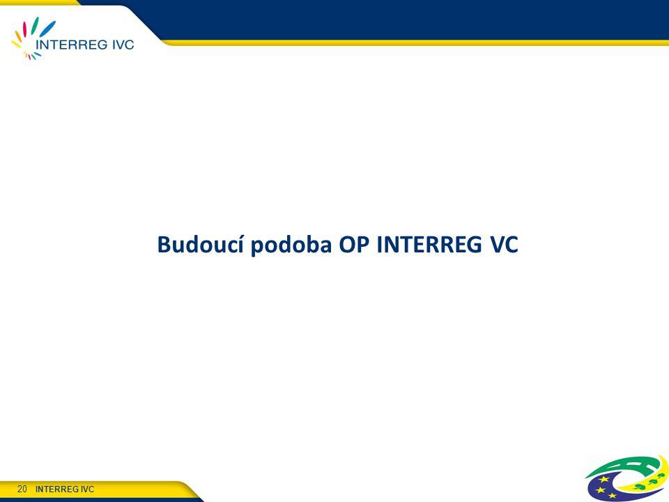 INTERREG IVC 20 Budoucí podoba OP INTERREG VC