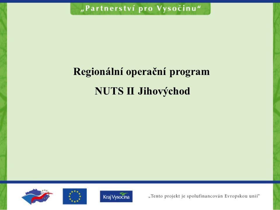 Regionální operační program NUTS II Jihovýchod