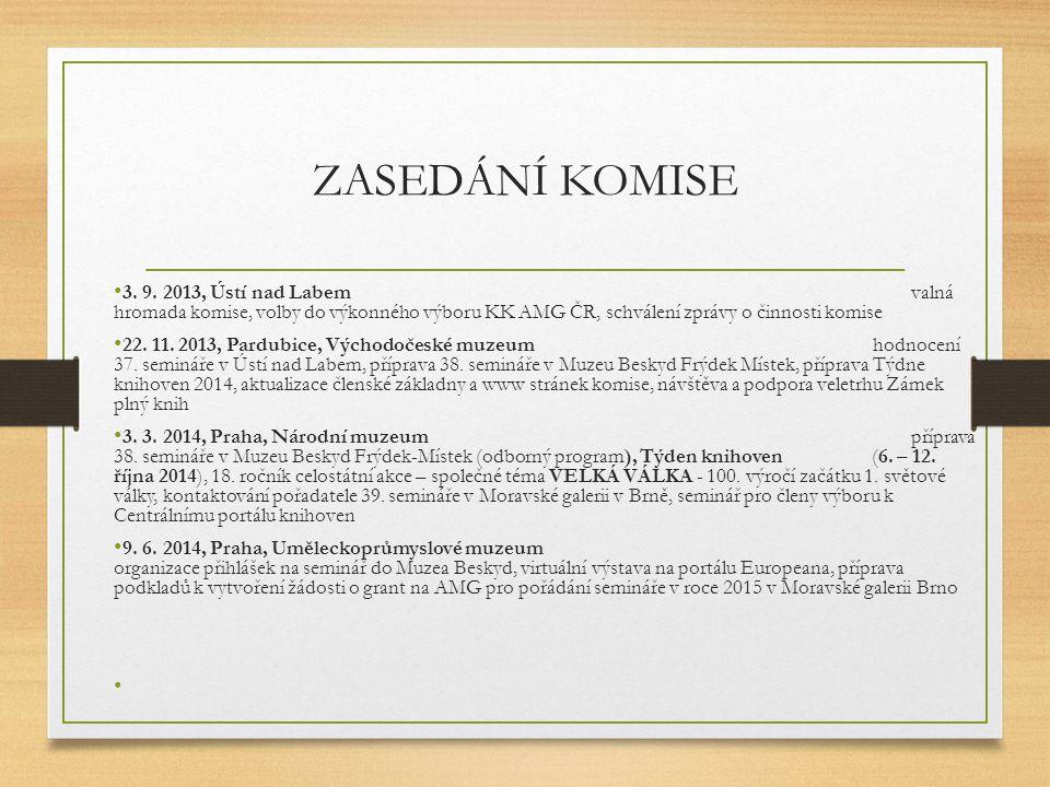 ZASEDÁNÍ KOMISE 3.9.