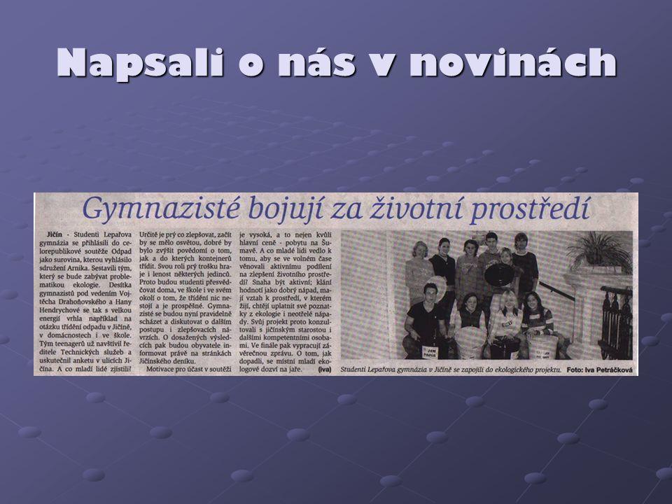 Napsali o nás v novinách