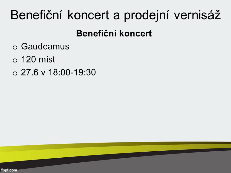 Benefiční koncert a prodejní vernisáž Benefiční koncert o Gaudeamus o 120 míst o 27.6 v 18:00-19:30