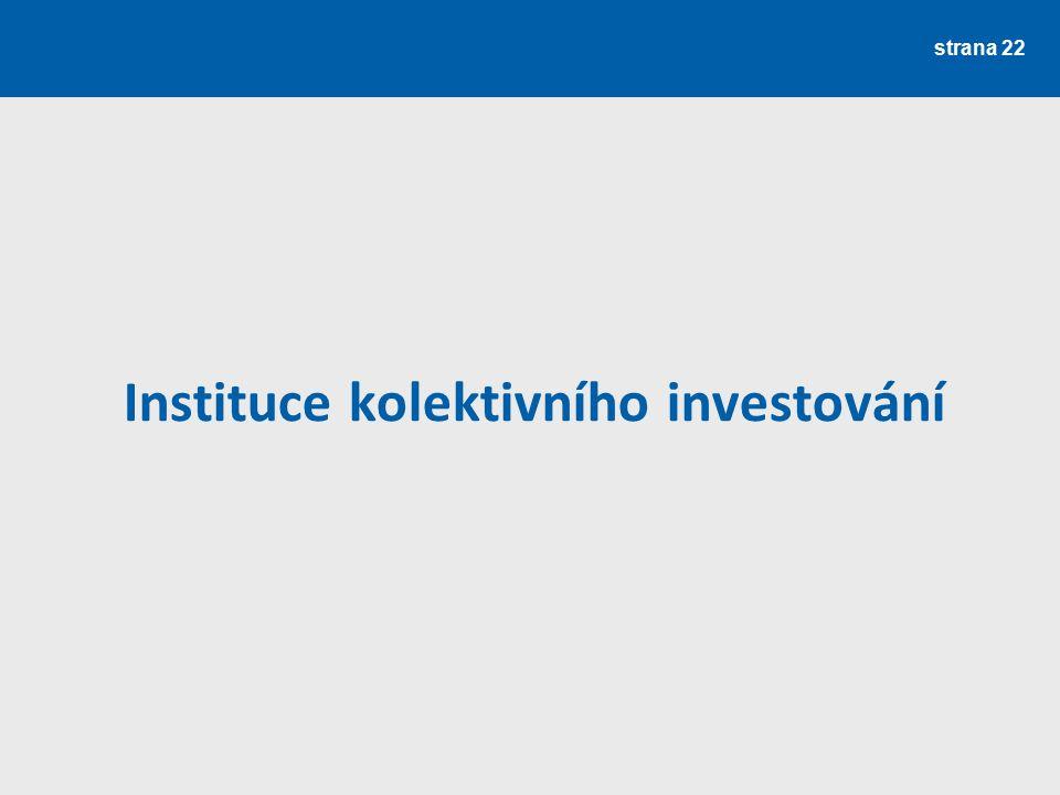 strana 22 Instituce kolektivního investování