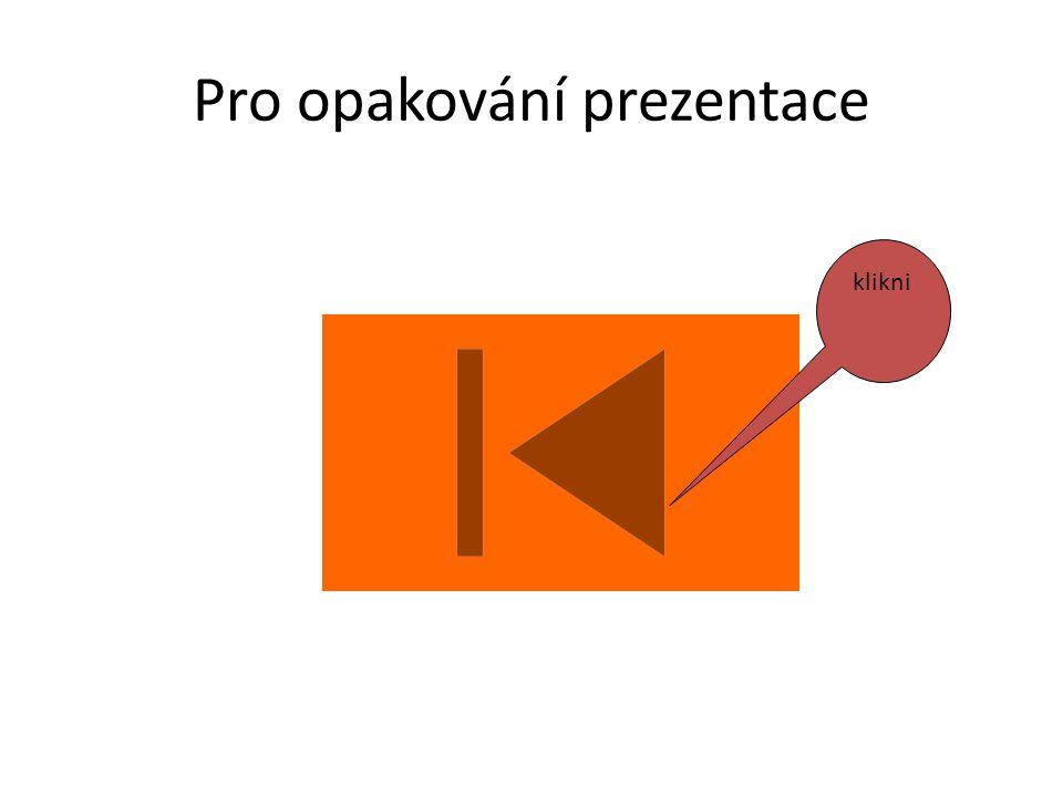 Pro opakování prezentace klikni