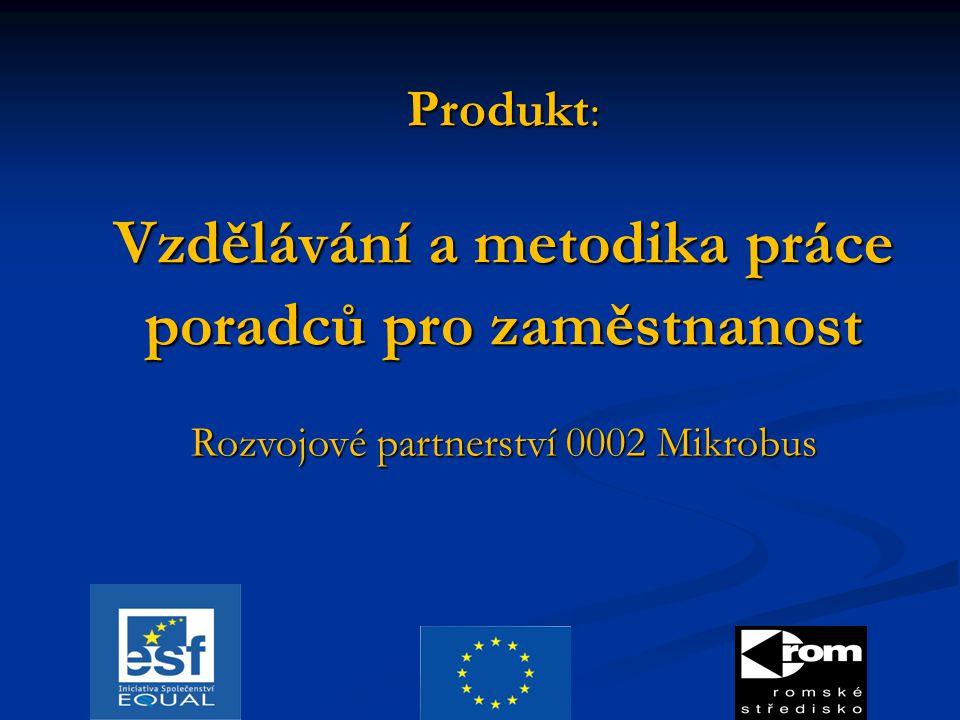 Produkt : Vzdělávání a metodika práce poradců pro zaměstnanost Rozvojové partnerství 0002 Mikrobus