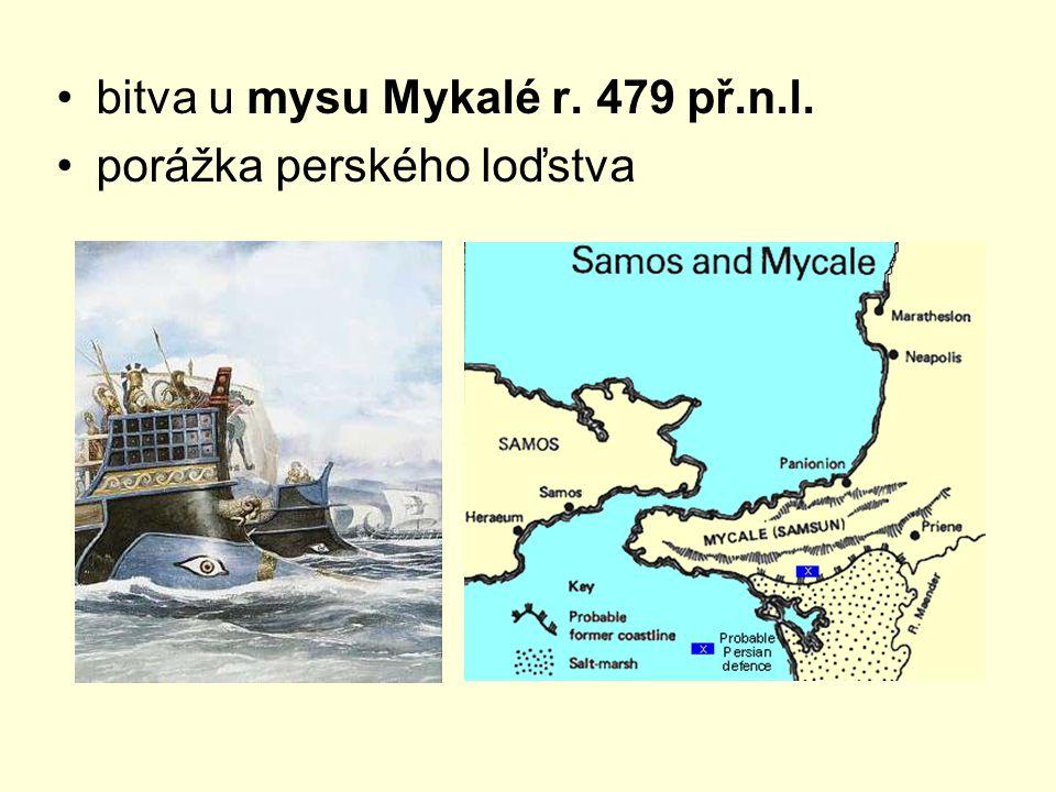bitva u mysu Mykalé r. 479 př.n.l. porážka perského loďstva