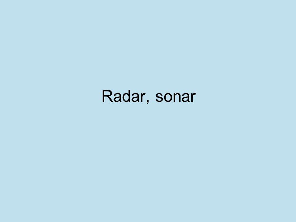 Radar, sonar
