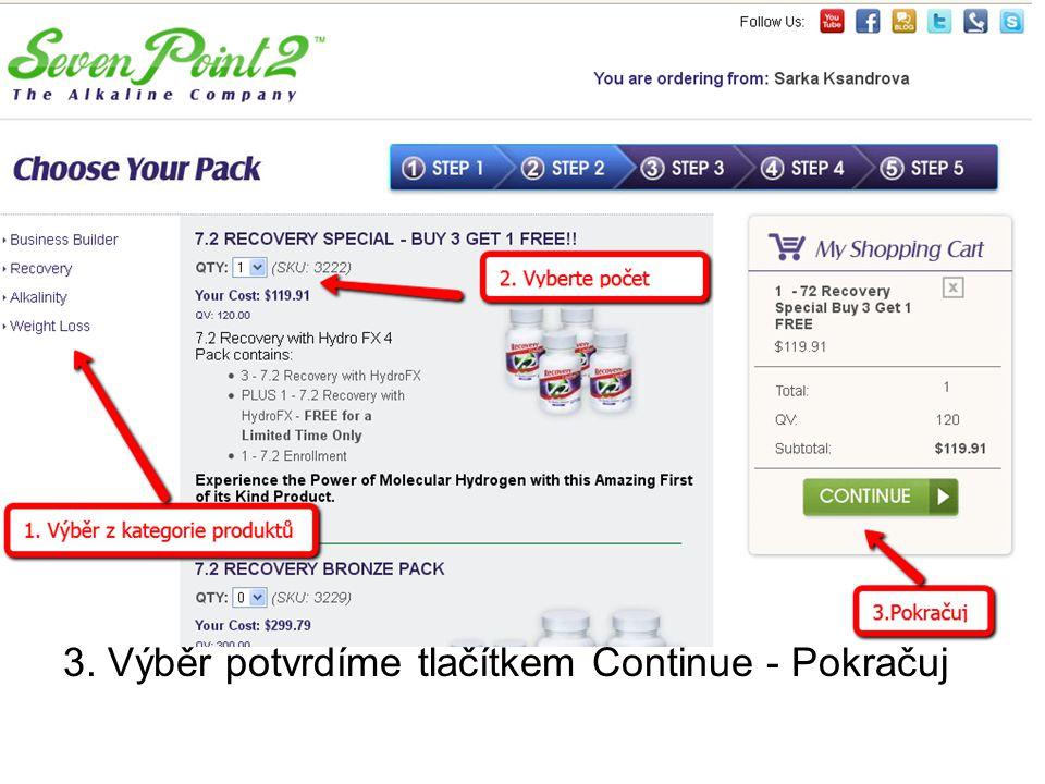 """Chouse Your Pack – Výběr produktů 1. Vybereme nyní produkt z nabídky"""" - Business – bysnys, - Recovery – Molekulární vodík, - Alkalinity – Produktů k o"""