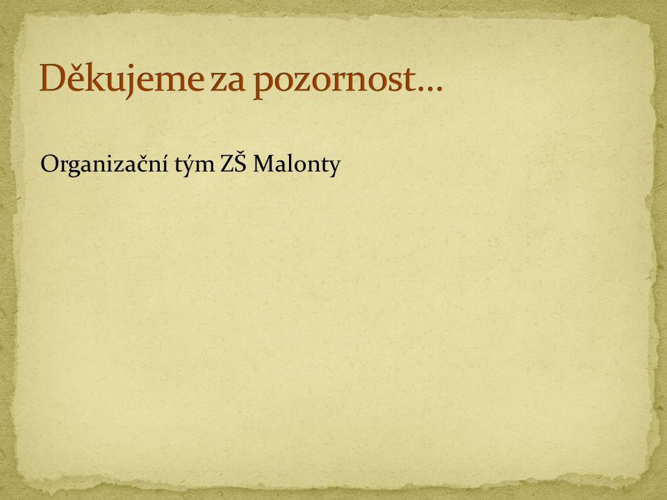 Organizační tým ZŠ Malonty