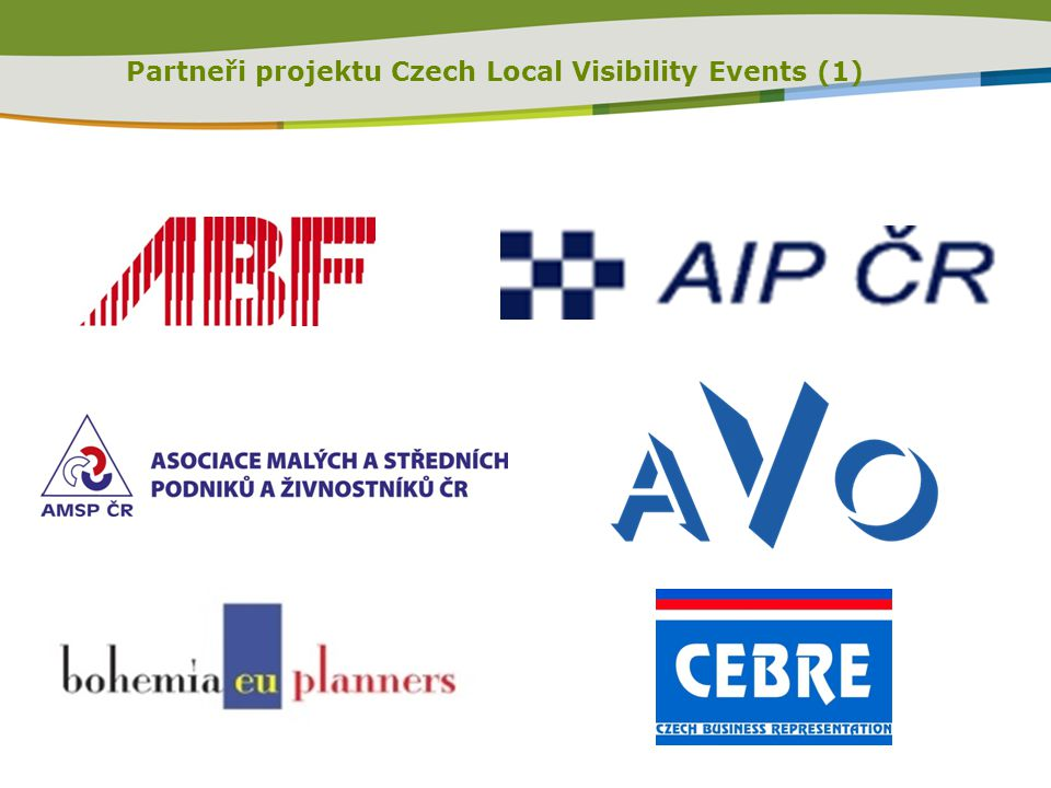 Partneři projektu Czech Local Visibility Events (1)