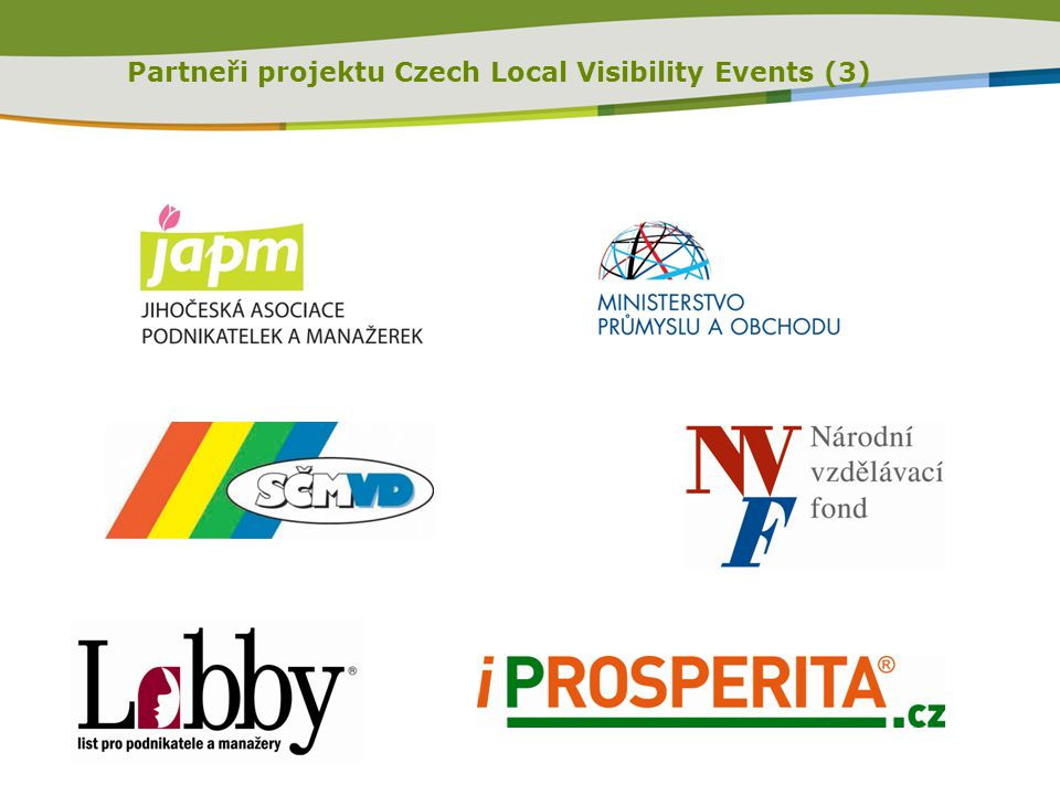 Partneři projektu Czech Local Visibility Events (3)