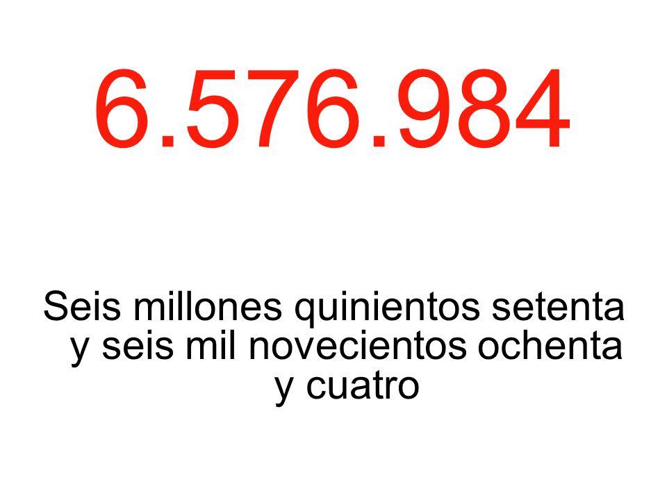 6.576.984 Seis millones quinientos setenta y seis mil novecientos ochenta y cuatro