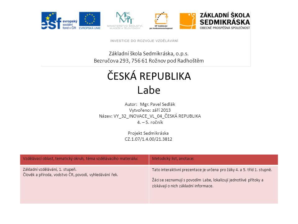 Základní škola Sedmikráska, o.p.s.