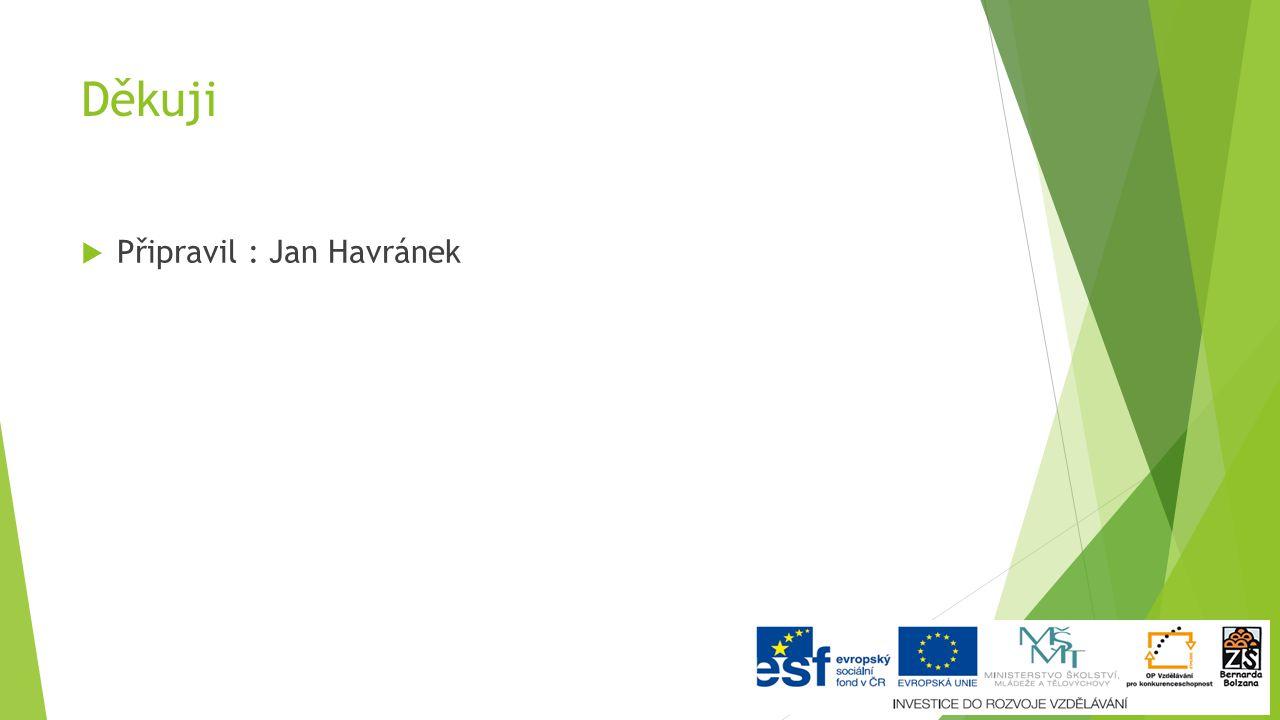 Děkuji  Připravil : Jan Havránek