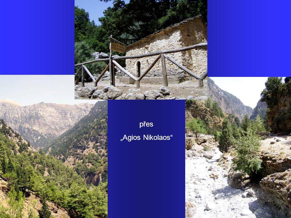 """Strž Samaria – 18km, nejdelší v Evropě. Bílé hory, 1227m n.m. výchozí bod túry """"Xiloskala""""… …sestup opuštěnými místy…"""