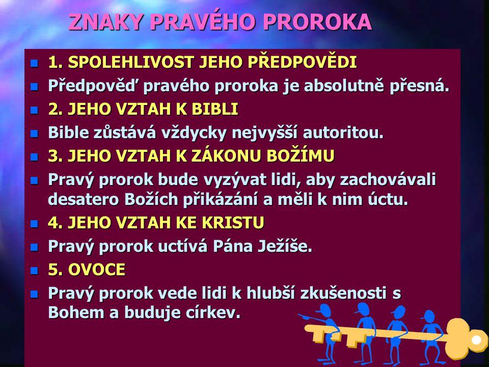 """Užitečnost daru proroctví n""""n""""n""""n""""Mluvím k prorokům a dávám mnohá vidění; skrze proroky předkládám podobenství."""" n""""n""""n""""n""""Skrze proroka vyvedl Hospodin"""