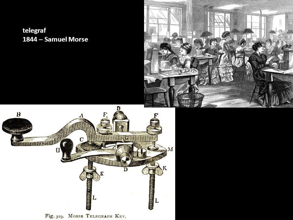 telegraf 1844 – Samuel Morse