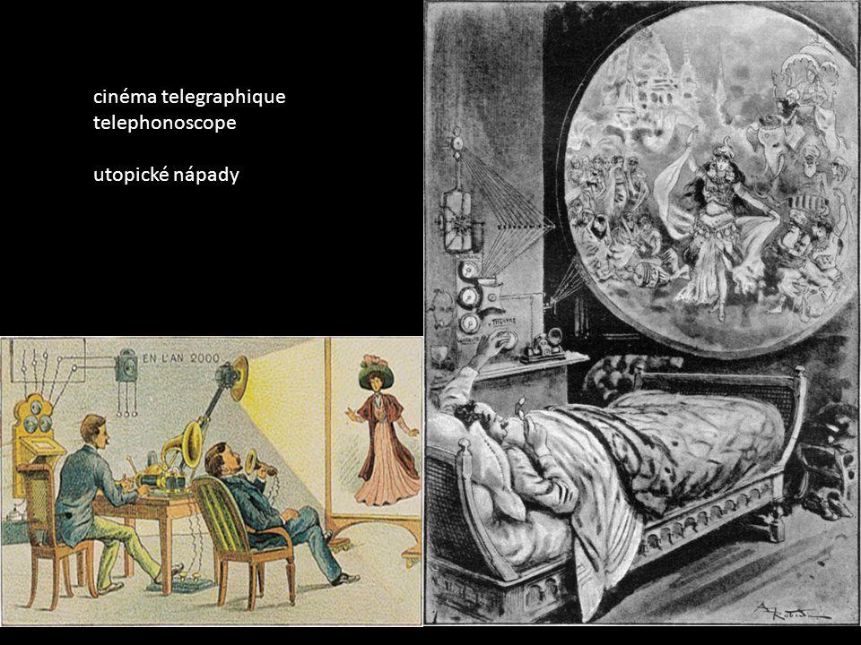 cinéma telegraphique telephonoscope utopické nápady